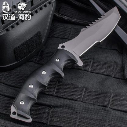 HX OUTDOORS D-124 440C Blade K10 Handle Fixed Knife With KYDEX Sheath Outdoor Survival Tactical Bushcraft Multitool Diving Knife