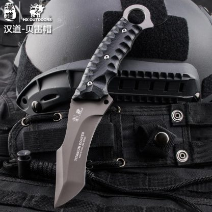 HX OUTDOORS D-121 440 Blade K10 Handle Survival Tactical Fixed Knife Outdoor Camping Hunting Multi-function bushcraft knifves