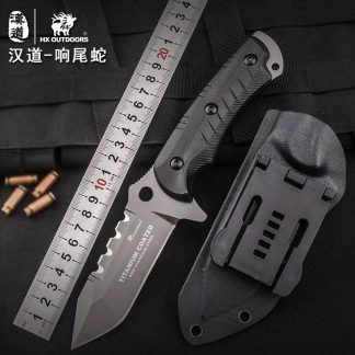 HX OUTDOORS D-167 440C Blade K10 Handle Fixed Knife With KYDEX Sheath Outdoor Survival Tactical Bushcraft Multitool Army Diving Knife