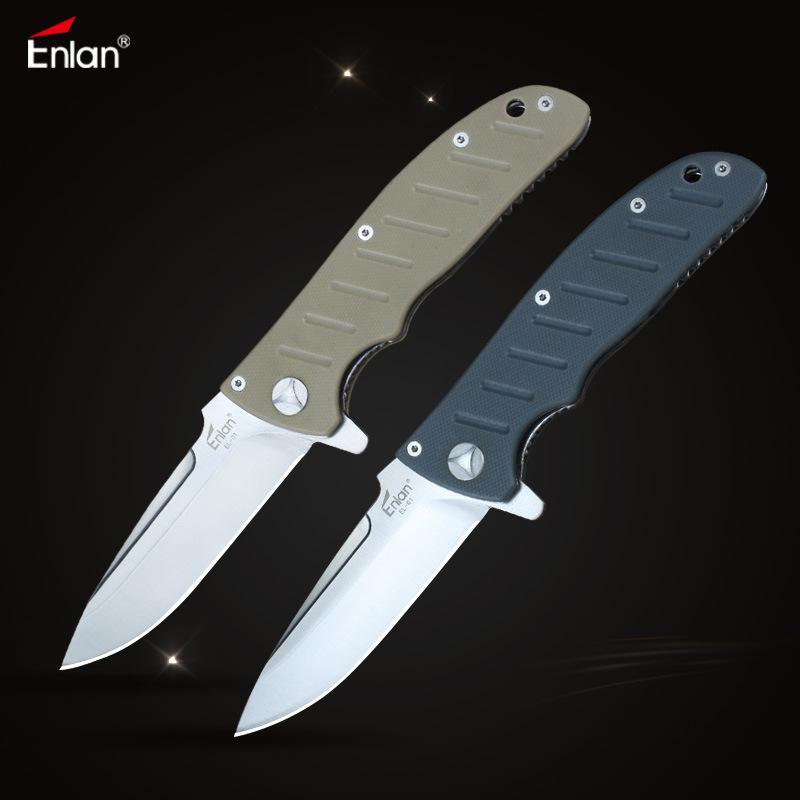 Enlan EL-01 Folding Knife 8Cr13Mov Blade G10 Handle with lock