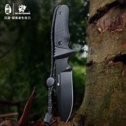 HX OUTDOORS D-171 Explorer Survival Fixed Knife Multi Tool Knives with KYDEX Sheath