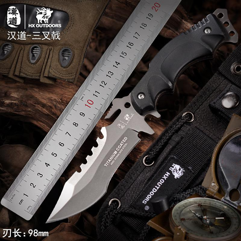 HX OUTDOORS D-123 440 Blade Survival Tactical Fixed Knife Outdoor Camping Hunting Multi-function bushcraft knifves