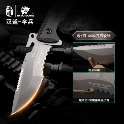 HX OUTDOORS D-175 Fixed Knife 440C Blade K10 Handle Tactical Knife Bushcraft Military Diving Outdoor Camping Survival Hunting Knifes