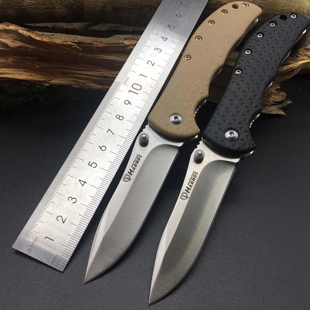 Harnds CK6013 Knight Folding Knife 8Cr14MoV Blade Nylon Fiberglass Handle Survival Utility Bushcraft Rescue EDC Portable Tools