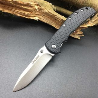 Harnds CK6013 Knight Folding Knife 8Cr14MoV Blade Nylon Fiberglass Handle Survival Utility Bushcraft Rescue EDC Portable Tools