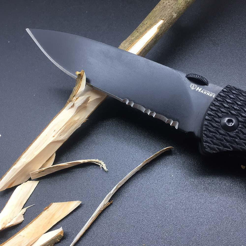 Harnds CK6016 Black Mamba Folding Knife 9Cr18MoV Blade G10 Handle Super Military bushcraft knife Utility EDC Tool