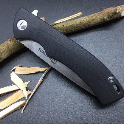 Harnds CK9168 Talisman Folding Knife  AUS-8 Blade G10 Handle HRC58-60