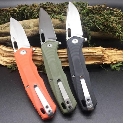Harnds CK6118 Castor AUS-8 Blade Folding Knife HRC58-59 Outdoor Camping Survival EDC Tool