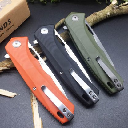 Harnds CK6119 Pollux AUS-8 Blade G10 Handle HRC58-59 Folding Knife Camping Hunting Utility EDC Tool multitool knife