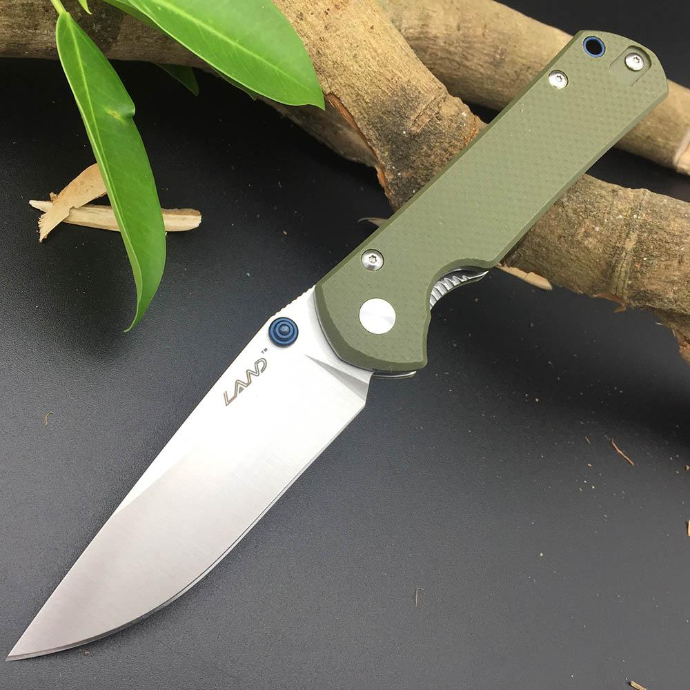 Sanrenmu Land 911  Folding Knife 12C27 Blade G10 handle Outdoor Hunting Camping Survival Tactical Super Military Pocket EDC Knives Portable Tools