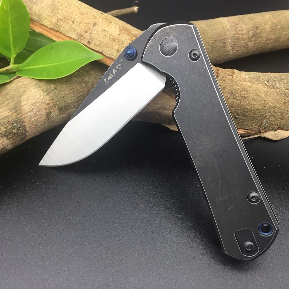 Sanrenmu 9107 12C27 Blade  Folding Knife Steel handle Ball Bearing Outdoor Tactical Survival Camping Utility Military Multi Tools Great Edc Knives