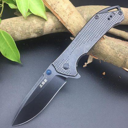 Sanrenmu 9015 12C27 Blade Folding Knife  Outdoor multi tools Pocket EDC Knives Gift Brand Design Utility Survival Knifes