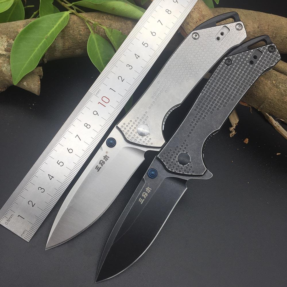 Sanrenmu 9015 12C27 Blade Folding Knife  Outdoor multi tools Pocket EDC Knives Gift Brand Design Utility Survival Knifes