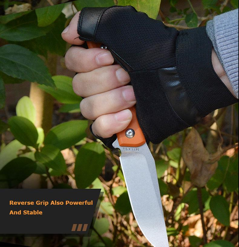 Sanrenmu S611 Fixed Knife 8cr14Mov Blade G10 Handle outdoor camping survival tactical hunting knife Military Utility knife