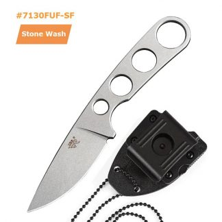 Sanrenmu 7130FUI-SH Fixed Knife 7Cr17 One Keel Steel outdoor camping survival tactical hunting knife With KYDEX Sheath